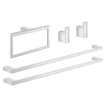 Chrome His and Hers Bathroom Hardware Set