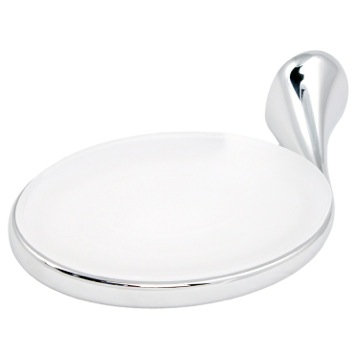 Soap Dish Wall Mounted Round Frosted Glass Soap Holder with Chrome Mounting MI11-13 Gedy MI11-13