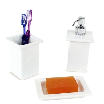 Bathroom Accessory Set Minnesota White Porcelain Bathroom Accessory Set MN100 Gedy MN100