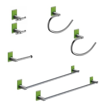 Green And Chrome His And Hers Accessory Set