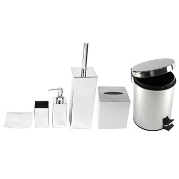 Chrome Free Standing Bathroom Accessory Set