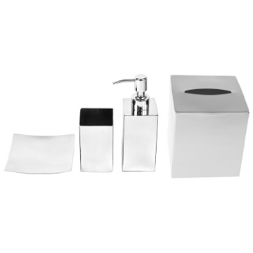 Stainless Steel Free Standing Bathroom Accessory Set