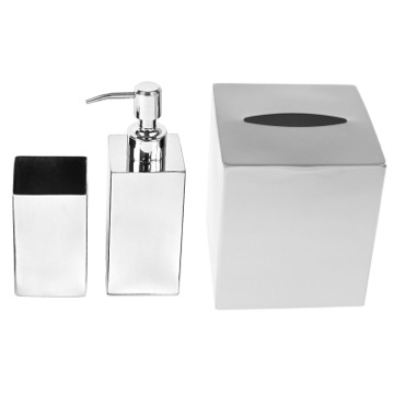 Free Standing Chrome Bathroom Accessory Set