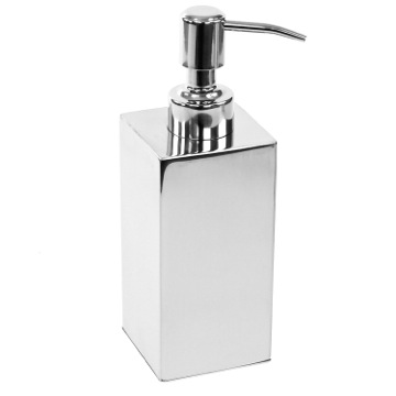 Square Polished Chrome Soap Dispenser