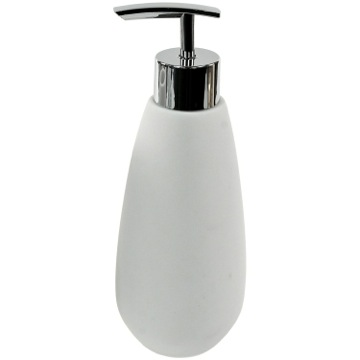 Soap Dispenser Made From Thermoplastic Resins and Stone in White Finish