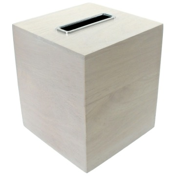 Tissue Box Cover, Contemporary, White, Wood, Gedy Papiro, Gedy PA02-02