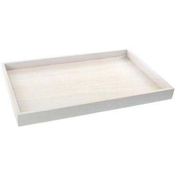 Tray Made From Wood in White Finish