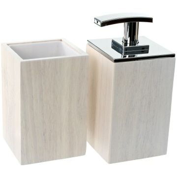 Bathroom Accessory Set Wooden 2 Piece White Bathroom Accessory Set, PA581-02 Gedy PA581-02