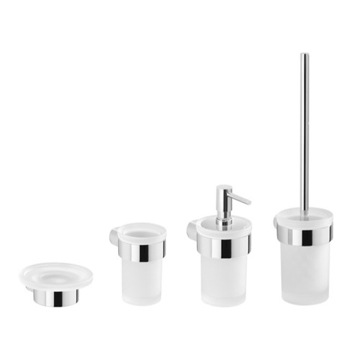 4 Piece Chrome Wall Mounted Hardware Set