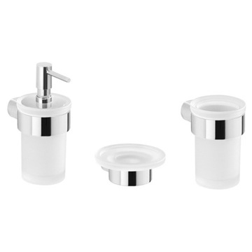 3 Piece Wall Mounted Chrome Accessory Set