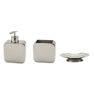 3 Piece Countertop Bathroom Accessory Set