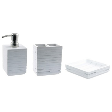 Bathroom Accessory Set Quadrotto White Bathroom Accessory Set QU200-02 Gedy QU200-02