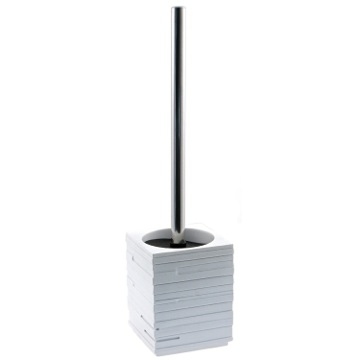Free Standing White Toilet Brush