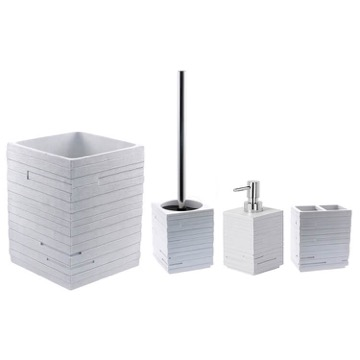 Quadrotto White 4-Piece Bathroom Accessory Set
