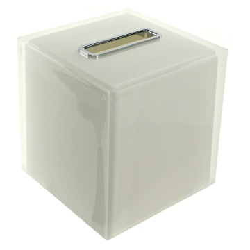 Tissue Box Cover, Contemporary, White, Thermoplastic Resins, Gedy Rainbow, Gedy RA02-02