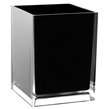 Free Standing Waste Basket With No Cover in Black Finish