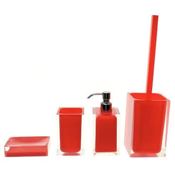 Bathroom Accessory Set Red Accessory Set of Thermoplastic Resins RA100-06 Gedy RA100-06