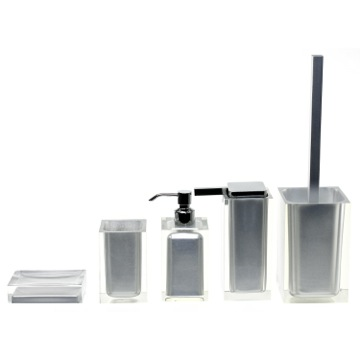 Bathroom Accessory Set Rainbow Silver Accessory Set of Thermoplastic Resins RA300-73 Gedy RA300-73
