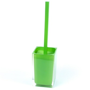 Green Stylish Square Toilet Brush Holder