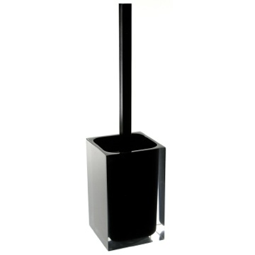 Black Stylish Square Toilet Brush Holder