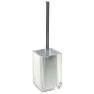 Unique Silver Toilet Brush Holder in Thermoplastic Resins