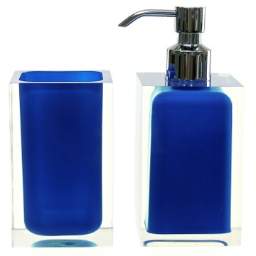 Bathroom Accessory Set Blue Two Pc. Accessory Set Made With Thermoplastic Resins RA681-05 Gedy RA681-05