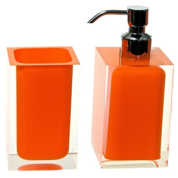 Bathroom Accessory Set Orange 2 Pc. Accessory Set Made With Thermoplastic Resins RA681-67 Gedy RA681-67