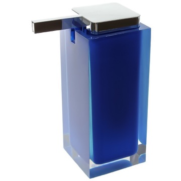 Square Blue Countertop Soap Dispenser