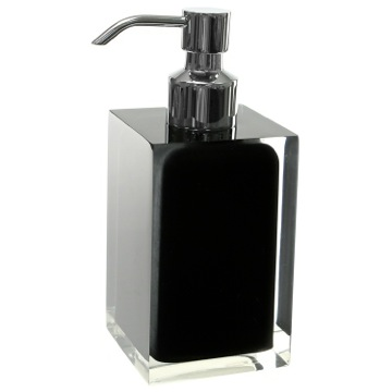 Square Black Countertop Soap Dispenser