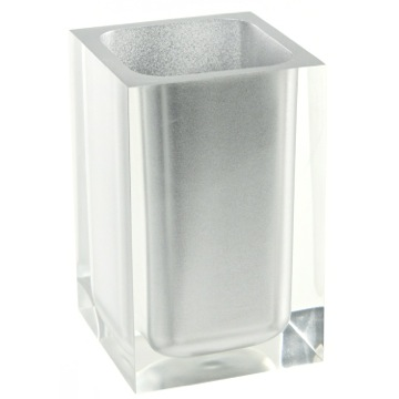 Square Silver Toothbrush Holder