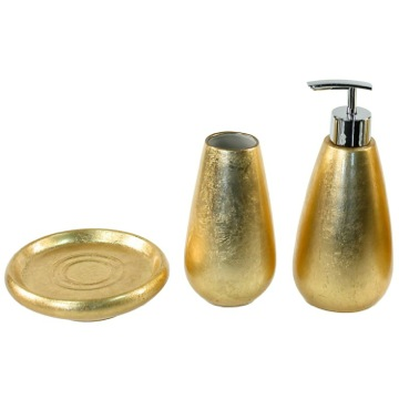 Bathroom Accessory Set Gold 3 Piece Bathroom Accessory Set, SO280-87 Gedy SO280-87
