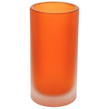 Free Standing Orange and Glass Tumbler
