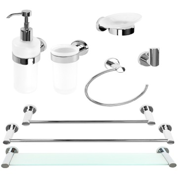 Hardware Accesssory Set Modern Chrome Brass Bathroom Square Hardware Accessory Set TX1900 Gedy TX1900