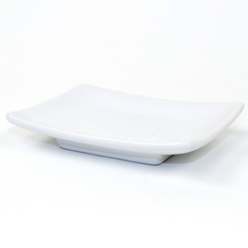 Square White Pottery Soap Dish