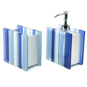 Blue 2 Piece Tumbler and Soap Dispenser