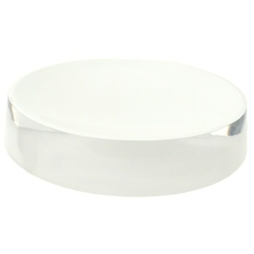 Free Standing Round White Soap Dish in Resin