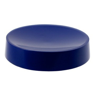 Blue Free Standing Round Soap Dish in Resin