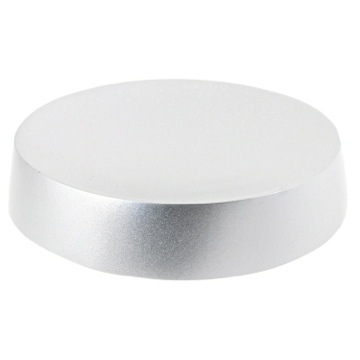Free Standing Silver Round Soap Dish in Resin