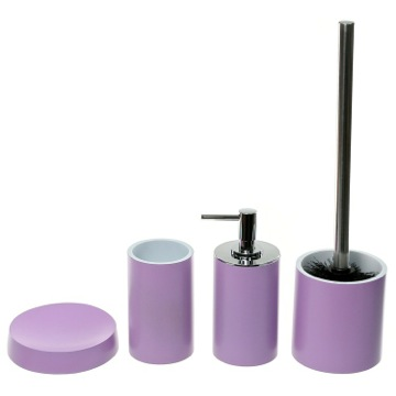 4 Piece Lilac Accessory Set, Free Stand