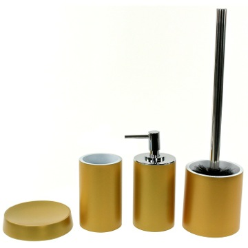Bathroom Accessory Set with 4 Pieces, Free Stand