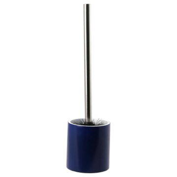 Blue Steel Free Standing Toilet Brush Holder in Resin