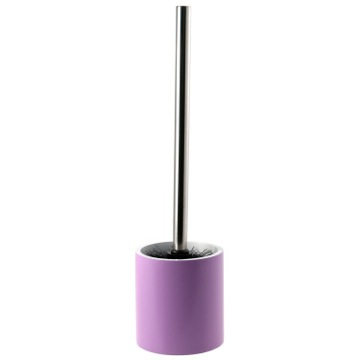 Lilac Round Free Standing Toilet Brush Holder in Steel