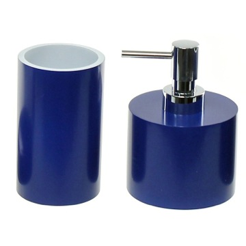 Bathroom Accessory Set With 2 Pieces In Blue