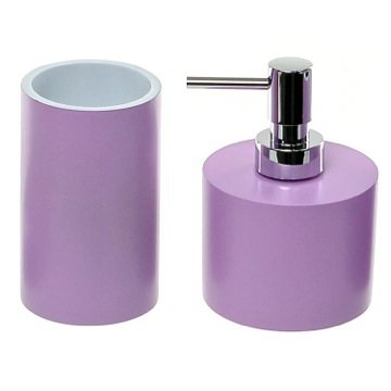Bathroom Accessory Set With 2 Pieces In Lilac