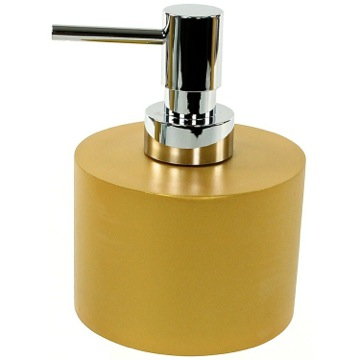 Gold Short and Round Soap Dispenser in Resin