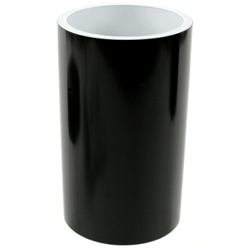 Black and Round Bathroom Tumbler in Resin