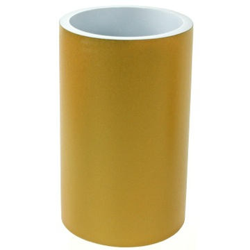 Round Gold Free Standing Bathroom Toothbrush Holder