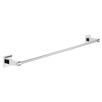 Wall Mounted 25 Inch Chromed Bathroom Towel Bar