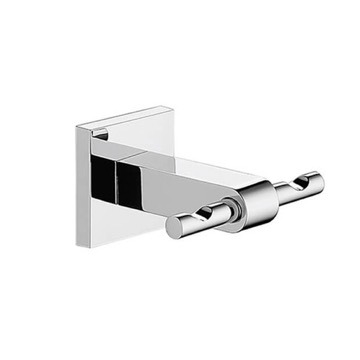 Wall Mounted Chromed Double Robe or Towel Hook