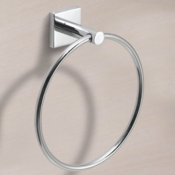 Modern Round Chrome Towel Ring